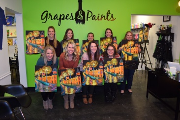 Young Alum Wine & Painting