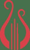 Lyre logo scarlet